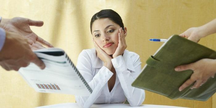 Emprendedora diciendo NO