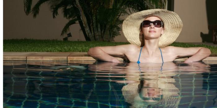 Emprendedora disfrutando de vacaciones