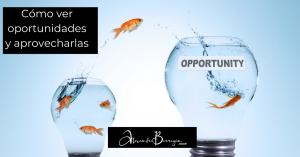 Cómo ver oportunidades y aprovecharlas